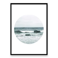 Beach Waves Circle II Wall Art Print