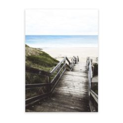 Bore Beach Steps Wall Art Print