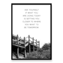 Ask Yourself - Quote Wall Art Print