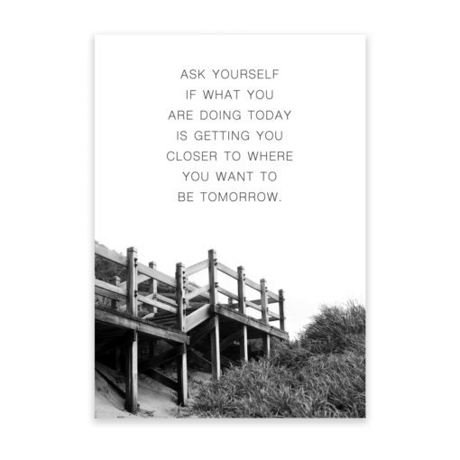 Ask Yourself Quote Wall Art Print