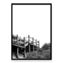 Beach Steps BW Wall Art Print