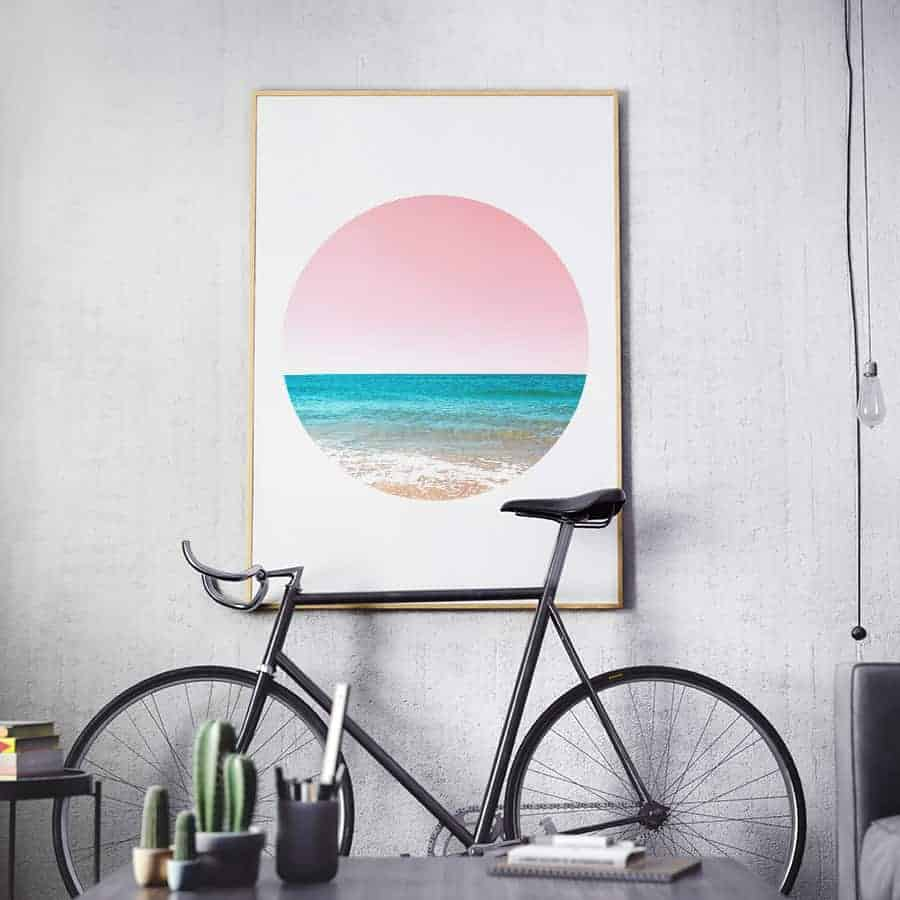 wall art print beach circle