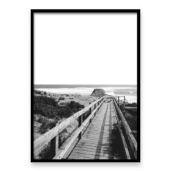 wall art print Diamond Bay Steps II BW
