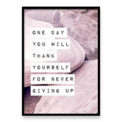 Wall art print never giving up