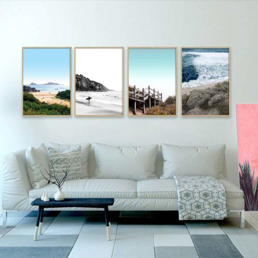 Set of 4 Prints -Coastal Collection