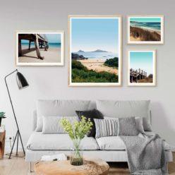 Set of 4 Beach Prints - Beach Gallery III Wall Art Prints