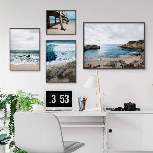 Set of 4 Prints - Beach Gallery Wall Art Prints