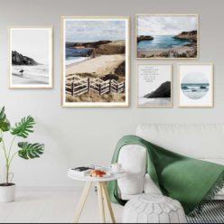 Set of 5 Prints - Coastal Gallery Wall Art Prints