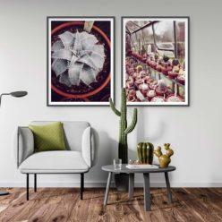 Set of 2 Prints Cactus Wall Art Prints