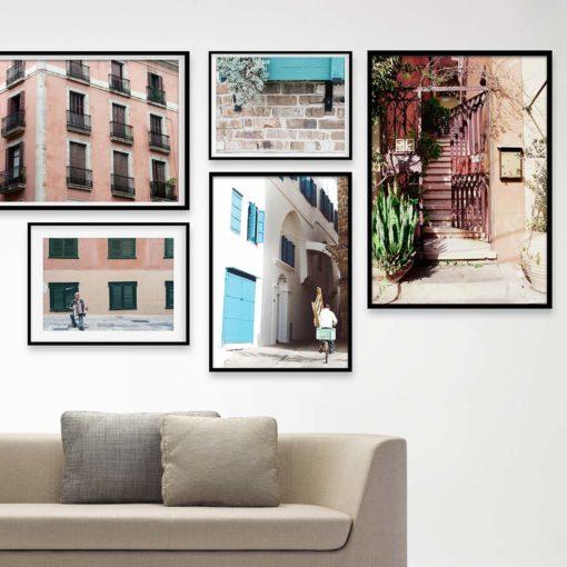 Set of 5 Prints - Urban Gallery Wall Art Prints