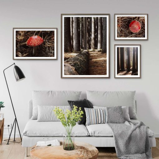 Set of 4 Prints - Into the Woods Gallery Wall Art Prints
