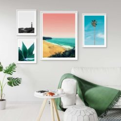 Set of 4 Beach Prints - Beach Gallery II Wall Art Prints