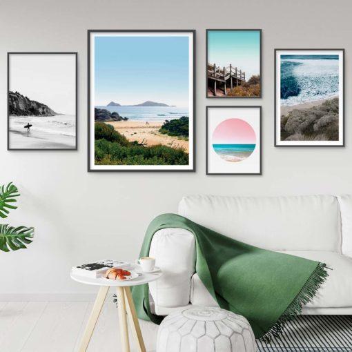Set of 5 Coastal Prints - Coastal Gallery III Wall Art Prints