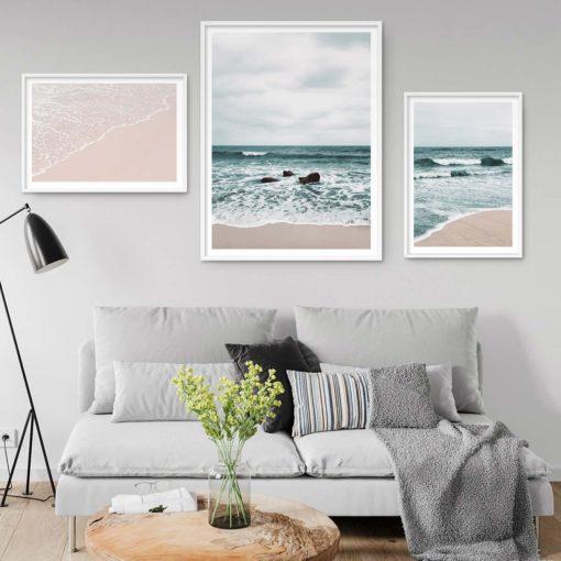 Set of 3 Prints - Beach Waves Wall Art Prints