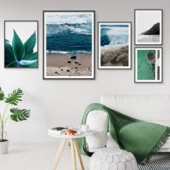 Set of 5 Prints - Coastal Gallery II Wall Art Prints