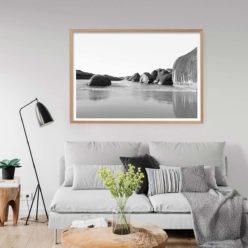 Elephant Rocks BW - LS - Wall Art Print