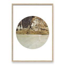Rocky Textures Circle - Wall Art Print