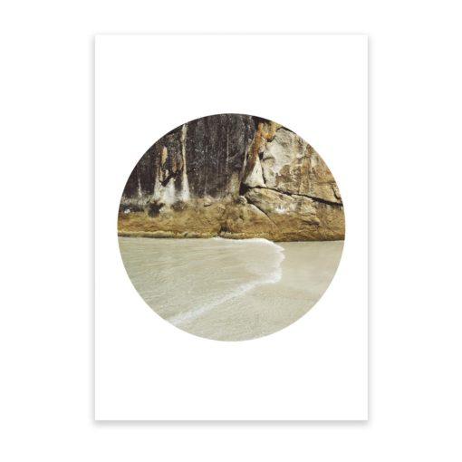 Rocky Textures Circle II - Wall Art Print