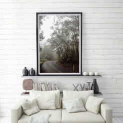 Misty Forest Drive - Wall Art Print