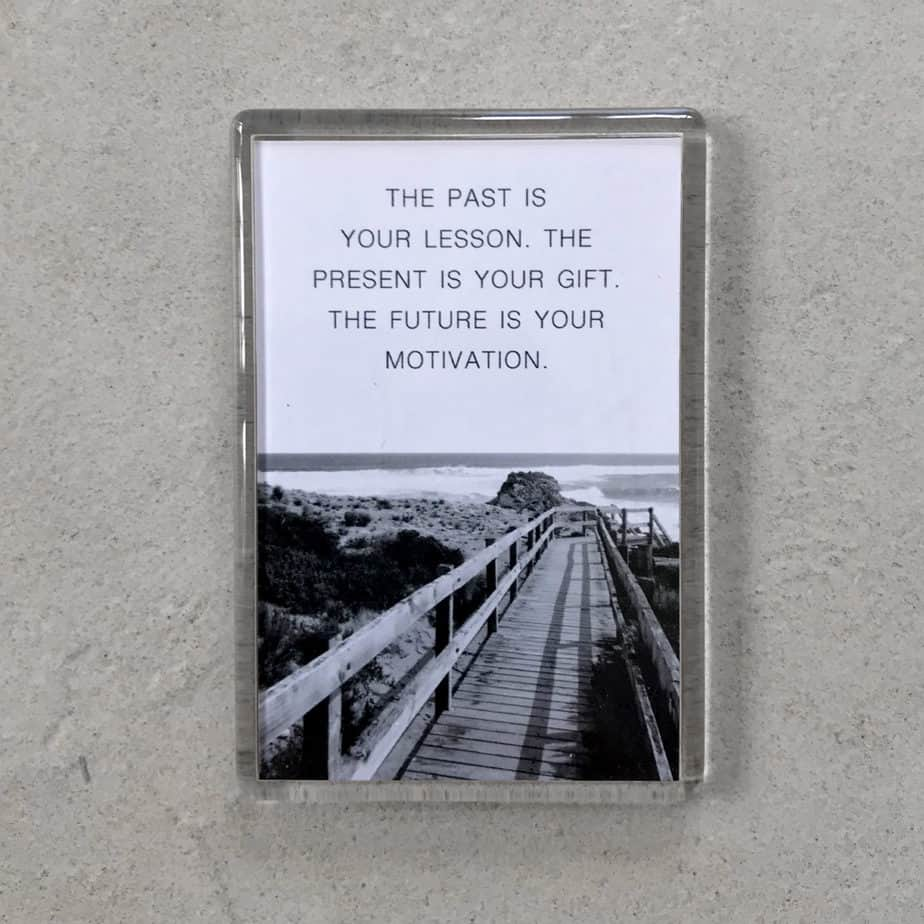 Quote: The past is your lesson. The present is your gift. The future is your motivation
