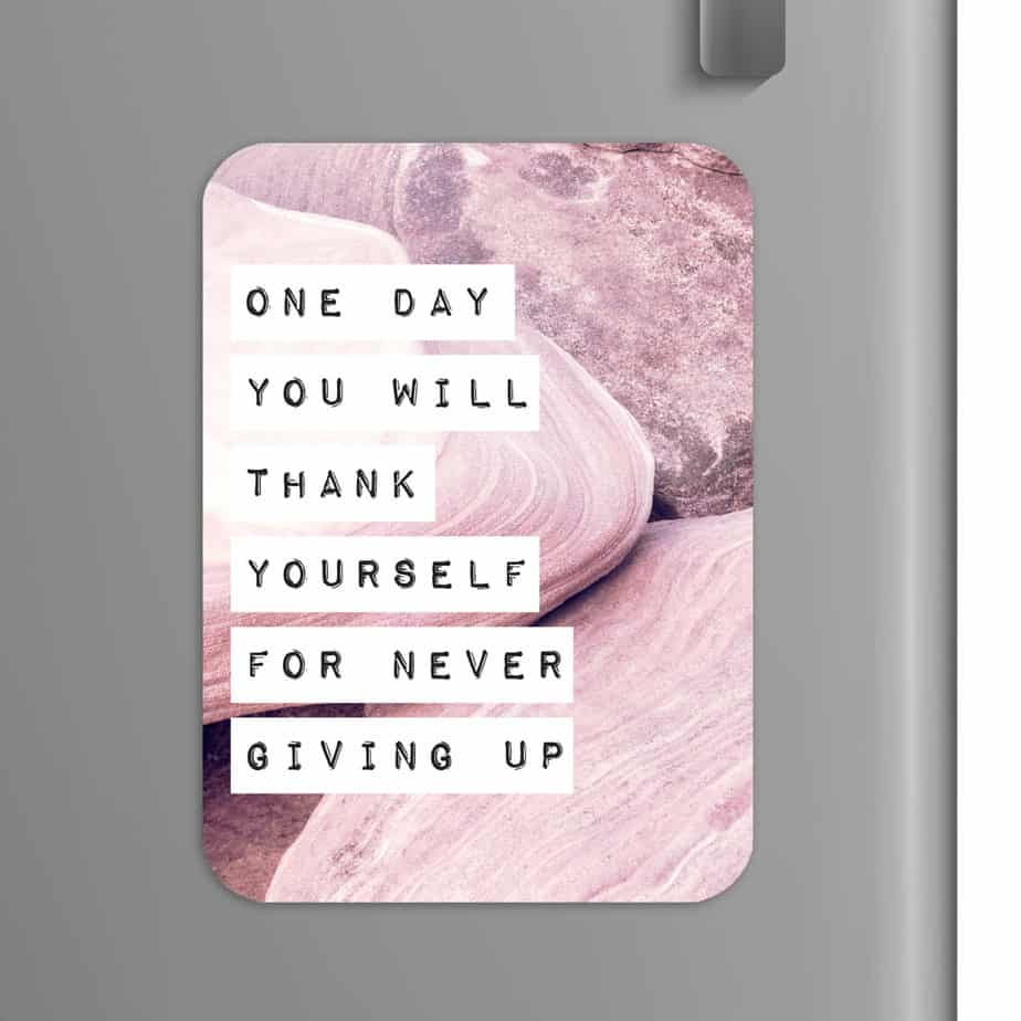 Quote: One day you will forgive yourself for not giving up