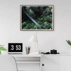 Corrigan Suspension Bridge - Wall Art Print