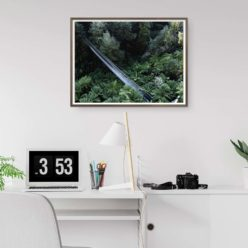 Corrigan Suspension Bridge - Wall Art Print