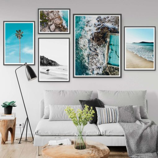 Set of 5 Coastal Prints - Coastal Gallery IV Wall Art Prints