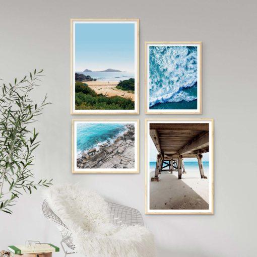 Set of 4 Beach Prints - Beach Gallery IV Wall Art Prints