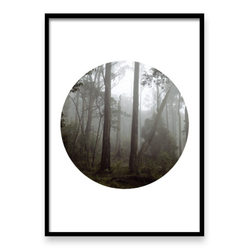 Misty Forest Circle - Wall Art Print