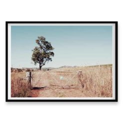 Outback Gate - HZ Wall Art Print