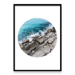 Rocky Coast Circle - Wall Art Print