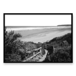 Sandy Path BW-Landscape- Wall Art Print