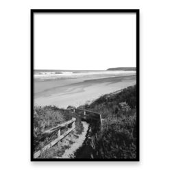 sandy Path BW- Wall Art Print