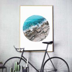 Rocky Coast Circle - Wall Art Print