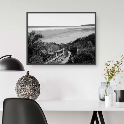 Sandy Path BW-Landscape- Wall Art Print
