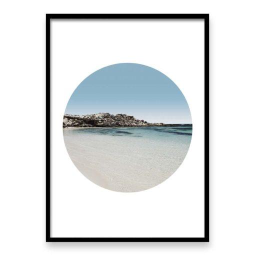 Calm Waters Circle - Wall Art Print