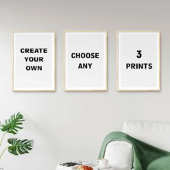 Create your own set of 3 prints