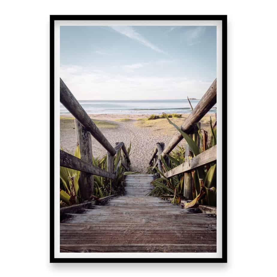Beach Stairs Wall Art Print