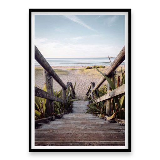 Beach Stairs Wall Art Print