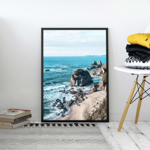 Coastline View Wall Art Print