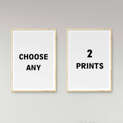 Create your own set of 2 prints