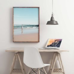 Beach Fisherman Wall Art Print