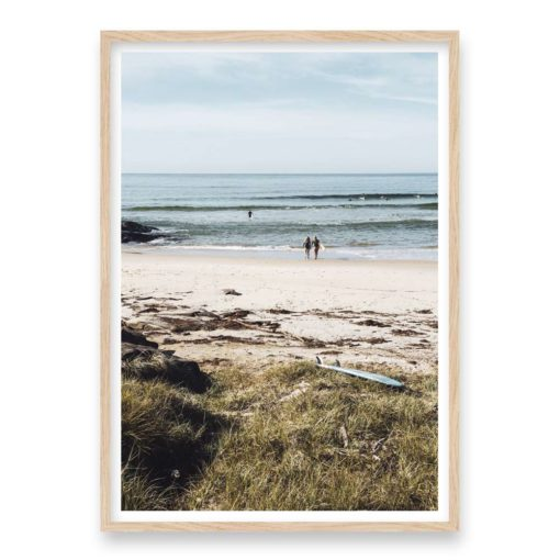 Into The Surf Wall Art Print