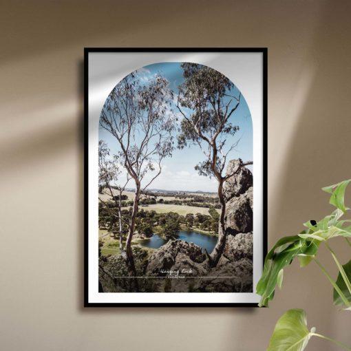 Hanging Rock Travel Poster