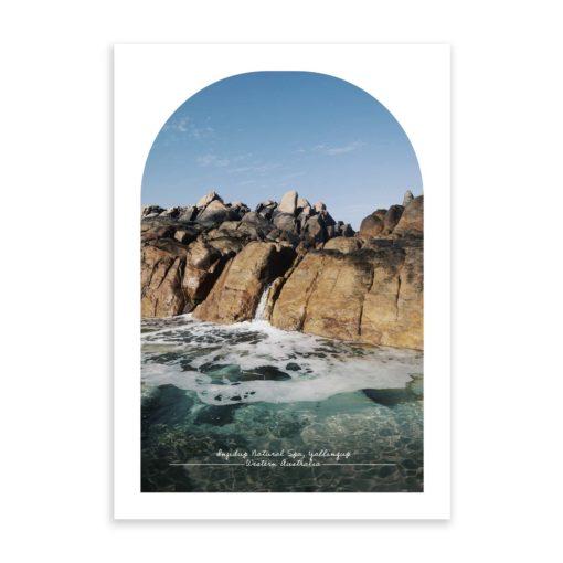Injidup Natural Spa Travel Poster