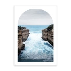 loch ard gorge travel poster