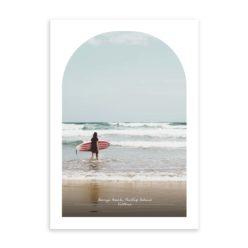 berrys beach travel poster