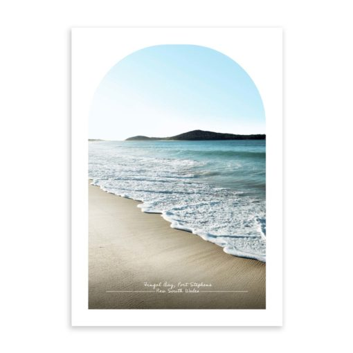 Fingal Bay Travel Poster